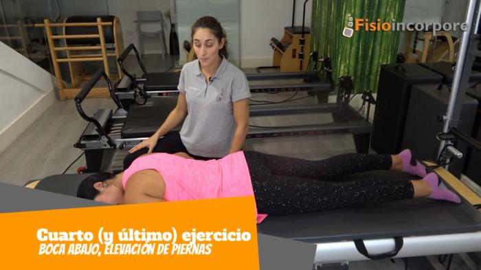 dolor de espalda, ejercicios de Pilates, elevación de pierna